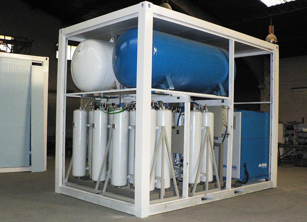 Interior del generador de nitrógeno
