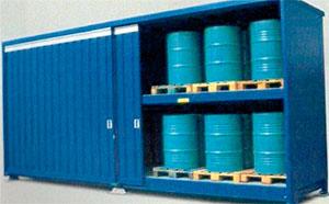 Contenedor de almacenaje para residuos peligrosos