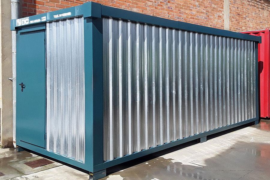 Módulo container almacén galvanizado BC