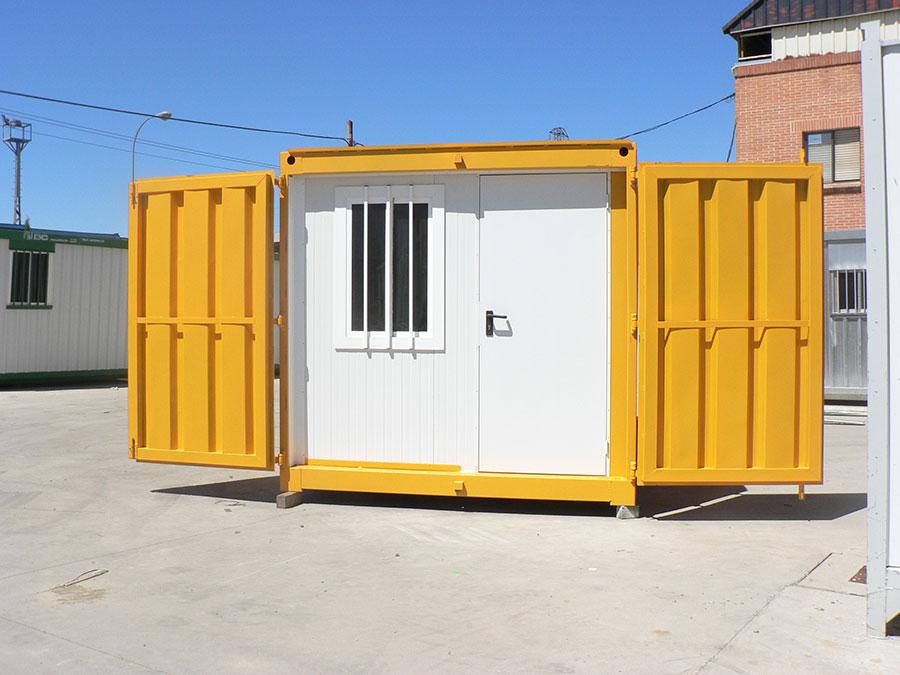 Módulo container blindado aislado oficina BC abierto