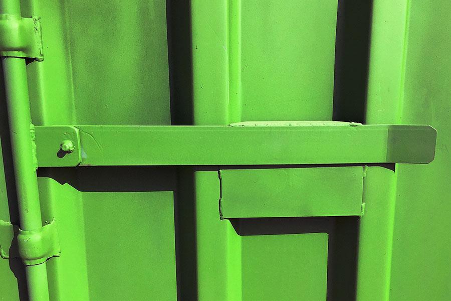 Cierre de seguridad patentado BC para container o contenedor almacén
